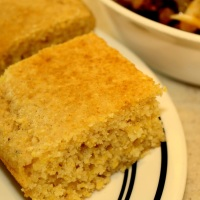 100% Whole Grain Corn Bread