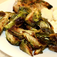 Oven-Roasted Garlic Brussel Sprouts