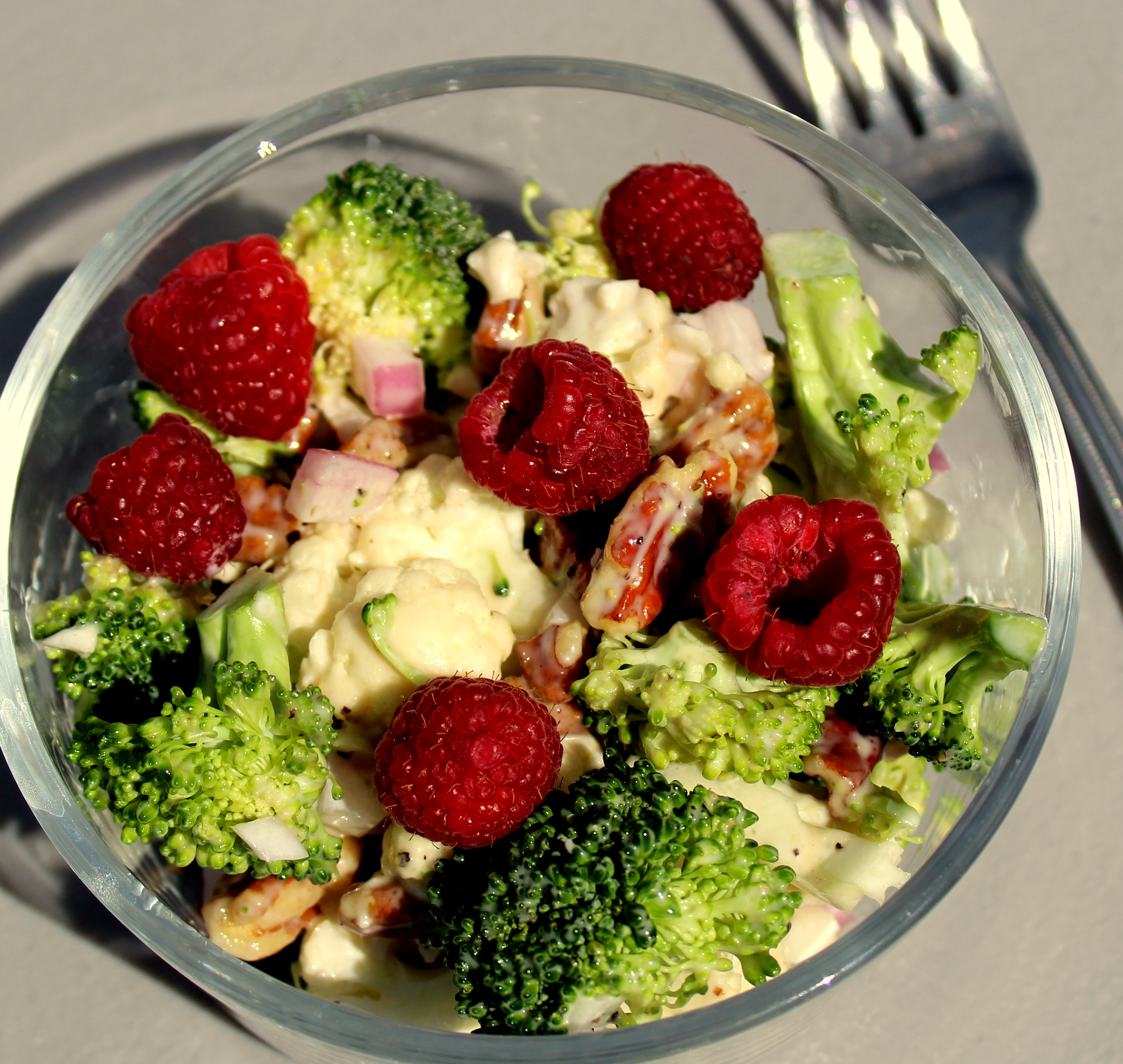 Raspberry Broccoli Salad