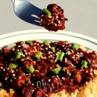Sweet Sesame Chicken in the Slow Cooker