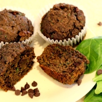 Grain-Free Double Chocolate Spinach Muffins - paleo