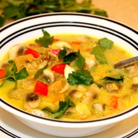 Coconut Curry Chicken Soup in the Slow Cooker